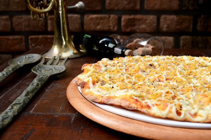 Pizza Frango com catupiry da Pizza Vignoli (Foto: divulgação)